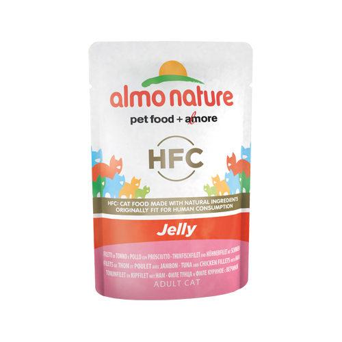 Almo Nature HFC Jelly Katzenfutter - Frischebeutel - Thunfisch, Huhn & Schinken
