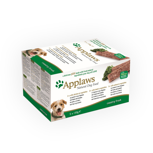 Applaws Hundefutter Country Fresh Selection - Schälchen - Multipack