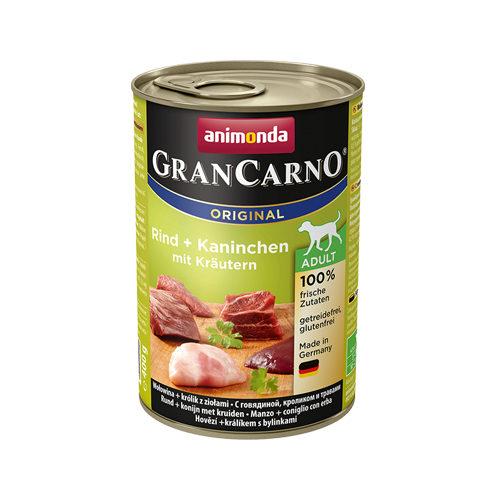 Animonda GranCarno Original Adult Hundefutter - Dosen - Rind, Kaninchen & Kräuter