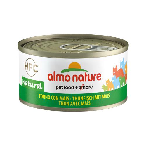 Almo Nature HFC 70 Natural Katzenfutter - Dosen - Thunfisch & Mais