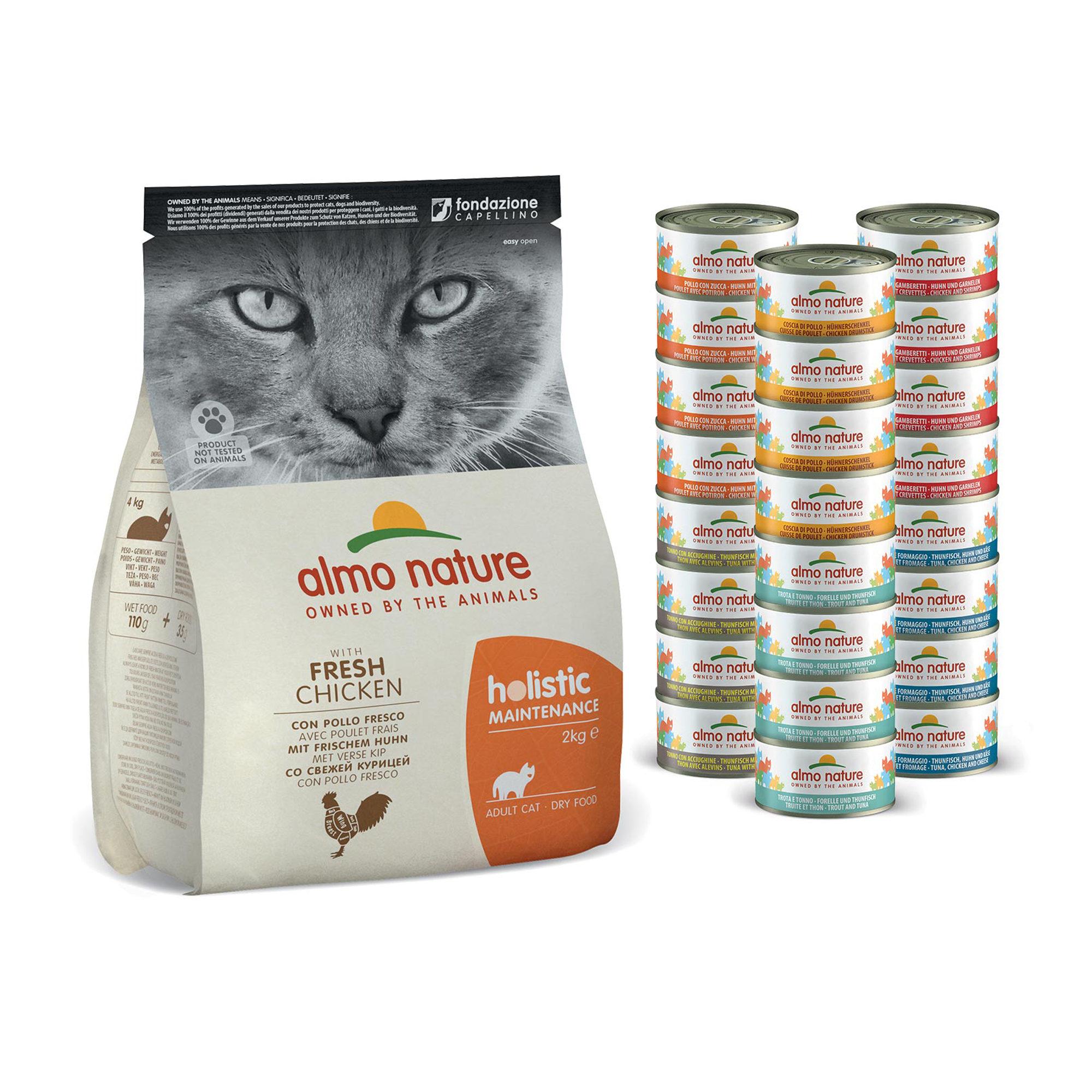 Almo Nature Monatspaket Katzenfutter - Huhn - Mixed