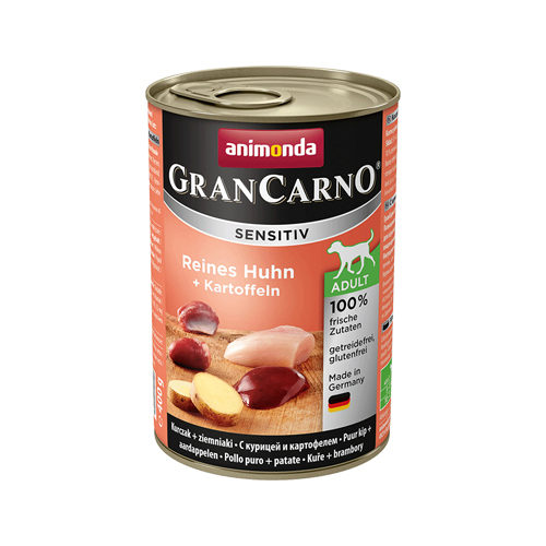 Animonda GranCarno Sensitiv Hundefutter - Dosen - Huhn & Kartoffel