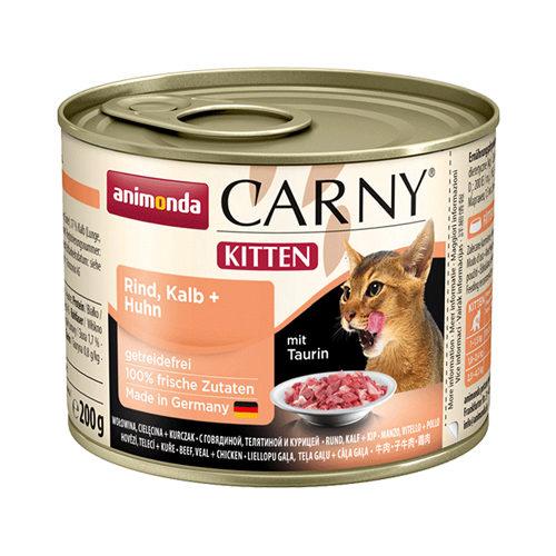 Animonda Carny Kittenfutter - Dosen - Rind / Kalb / Huhn