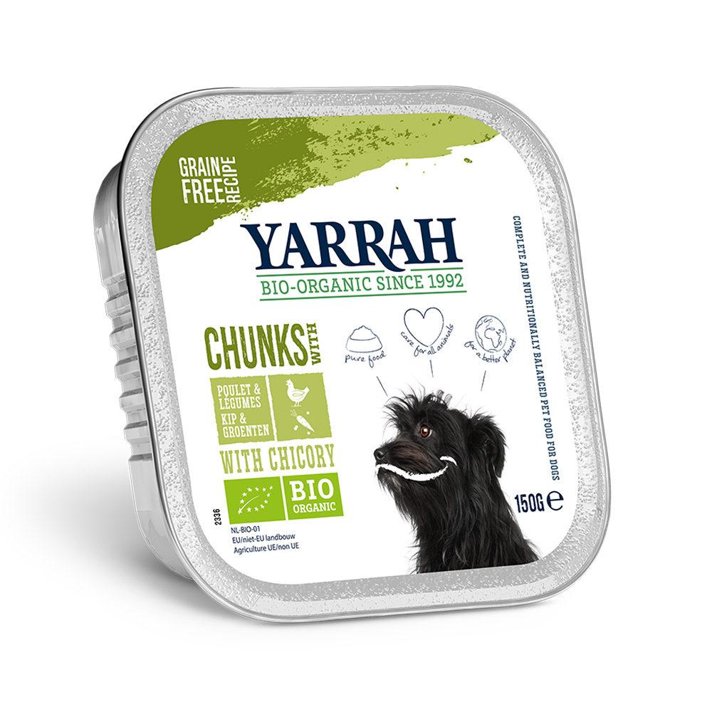 Yarrah Bio Chunks in Soße Hundefutter - Schälchen - Huhn & Gemüse mit Zichorie