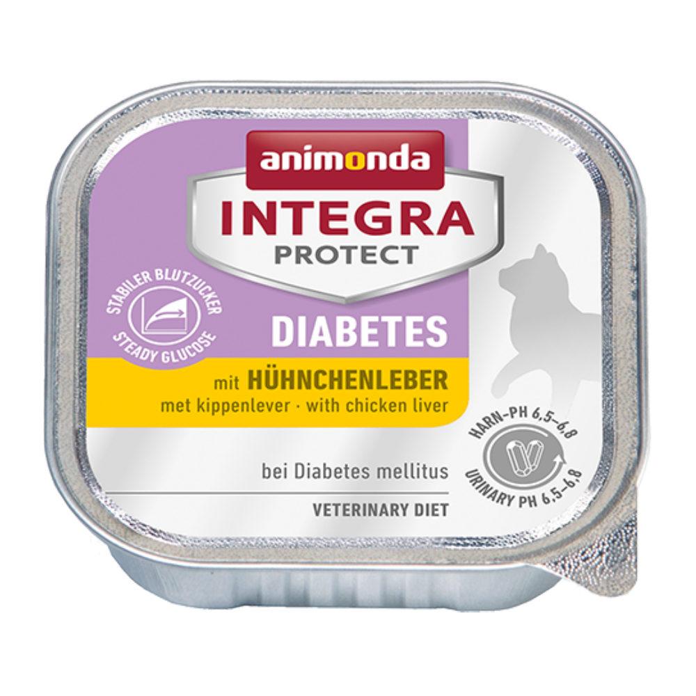Animonda Integra Protect Diabetes Katzenfutter - Schälchen - Hühnerleber