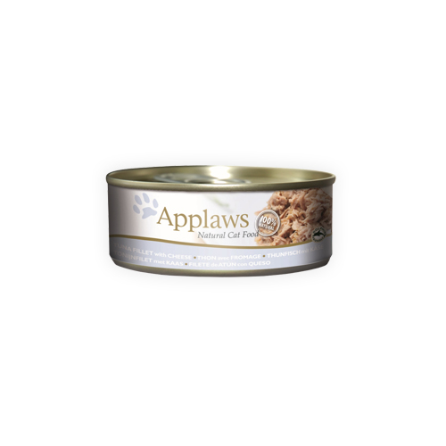 Applaws Katzenfutter - Dosen - Tuna Fillet & Cheese - 24 x 70 g