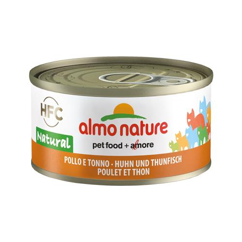 Almo Nature HFC 70 Natural Katzenfutter - Dosen - Huhn & Thunfisch