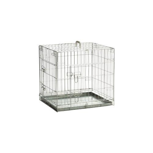 Beeztees Hundekäfig verzinkt 2 Türen - 78 x 55 x 61 cm