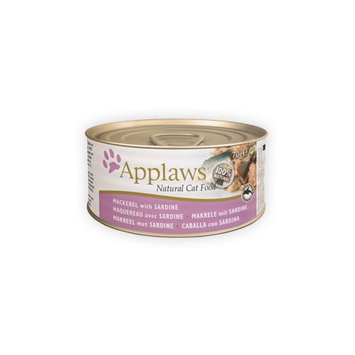 Applaws Katzenfutter - Dosen - Mackerel & Sardine - 24 x 156 g