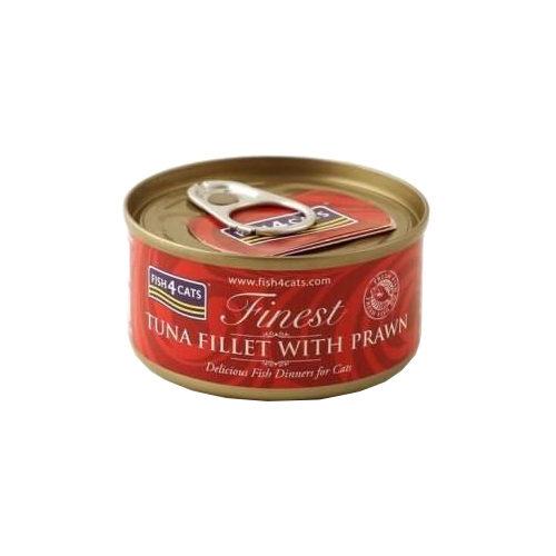 Fish4Cats Finest Katzenfutter - Dosen - Tuna Fillet with Prawn
