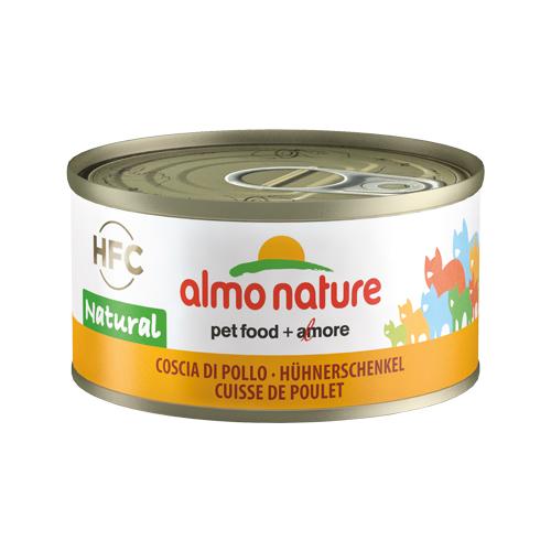 Almo Nature HFC 70 Natural Katzenfutter - Dosen - Hühnerschenkel