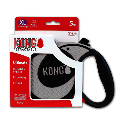 KONG Retractable Leash Ultimate - Grau