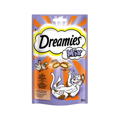 Dreamies Katzensnack Mix - Huhn & Ente
