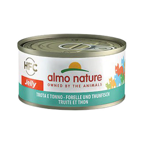 Almo Nature HFC 70 Jelly Katzenfutter - Dosen - Forelle & Thunfisch