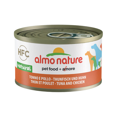 Almo Nature HFC 95 Natural Hundefutter - Dosen - Thunfisch & Huhn