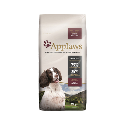 Applaws Adult Small & Medium Hundefutter - Huhn & Lamm