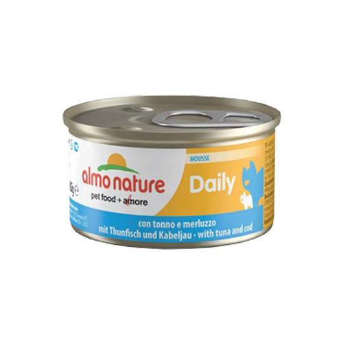 Almo Nature Daily Menu Mousse Katzenfutter - Dosen - Thunfisch & Kabeljau
