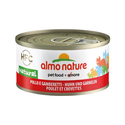 Almo Nature HFC 70 Natural Katzenfutter - Dosen - Huhn & Garnelen