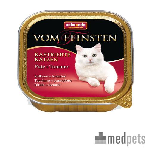 Animonda Vom Feinsten kastrierte Katzenfutter - Schälchen - Pute/Tomaten