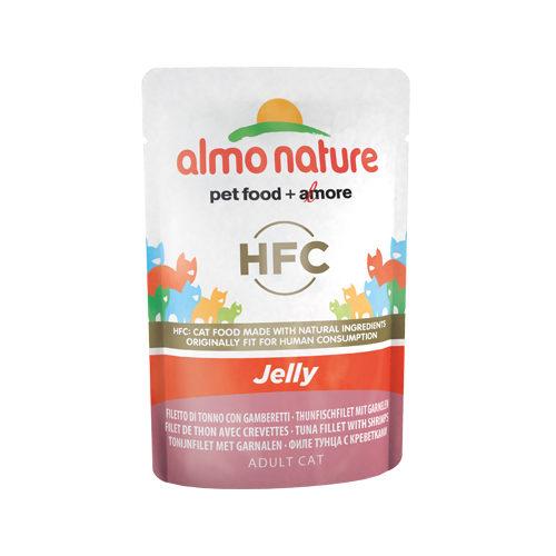 Almo Nature HFC Jelly Katzenfutter - Frischebeutel - Thunfischfilet & Garnelen