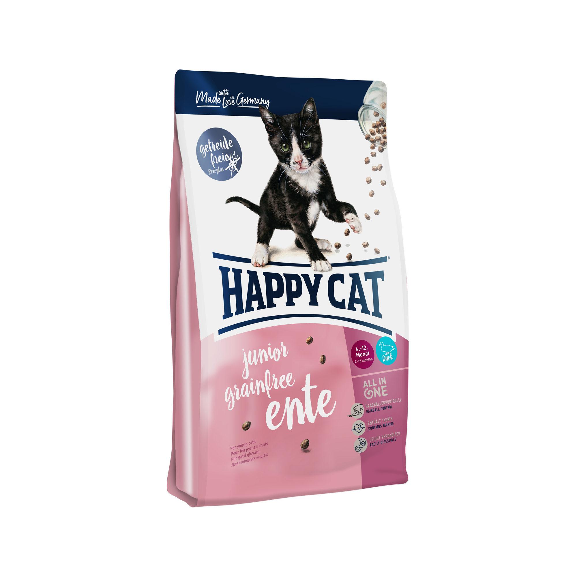 Happy Cat Junior Grainfree Katzenfutter - Ente