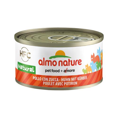 Almo Nature HFC 70 Natural Katzenfutter - Dosen - Huhn & Kürbis