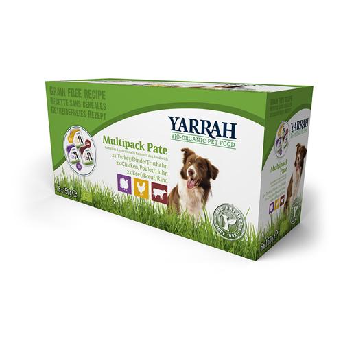 Yarrah Multipack Bio Paté Hundefutter - Schälchen