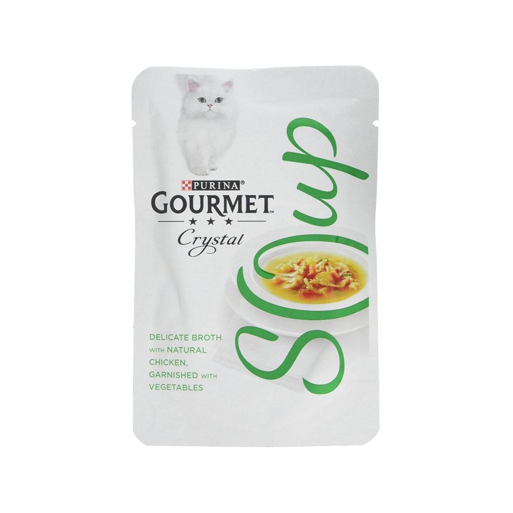 Purina Gourmet Soup Katzenfutter - Frischebeutel - Hunh & Gemüse
