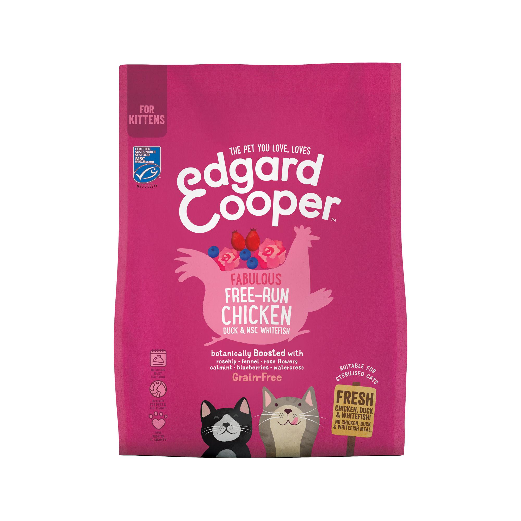 Edgard & Cooper Kitten Katzenfutter - Huhn, Ente & Weißfisch