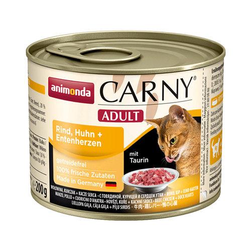 Animonda Carny Adult Katzenfutter - Dosen - Rind, Huhn & Ente