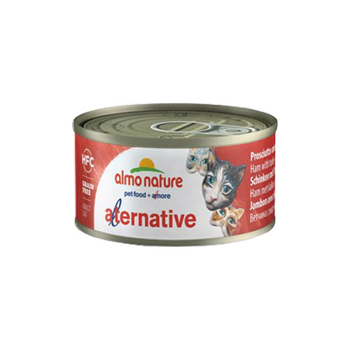 Almo Nature HFC 70 Alternative Katzenfutter - Dosen - Schinken & Truthahn