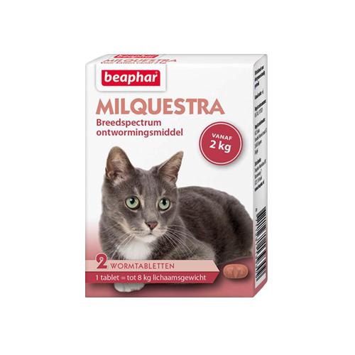 Beaphar Milquestra - große Katze - 2 Tabletten