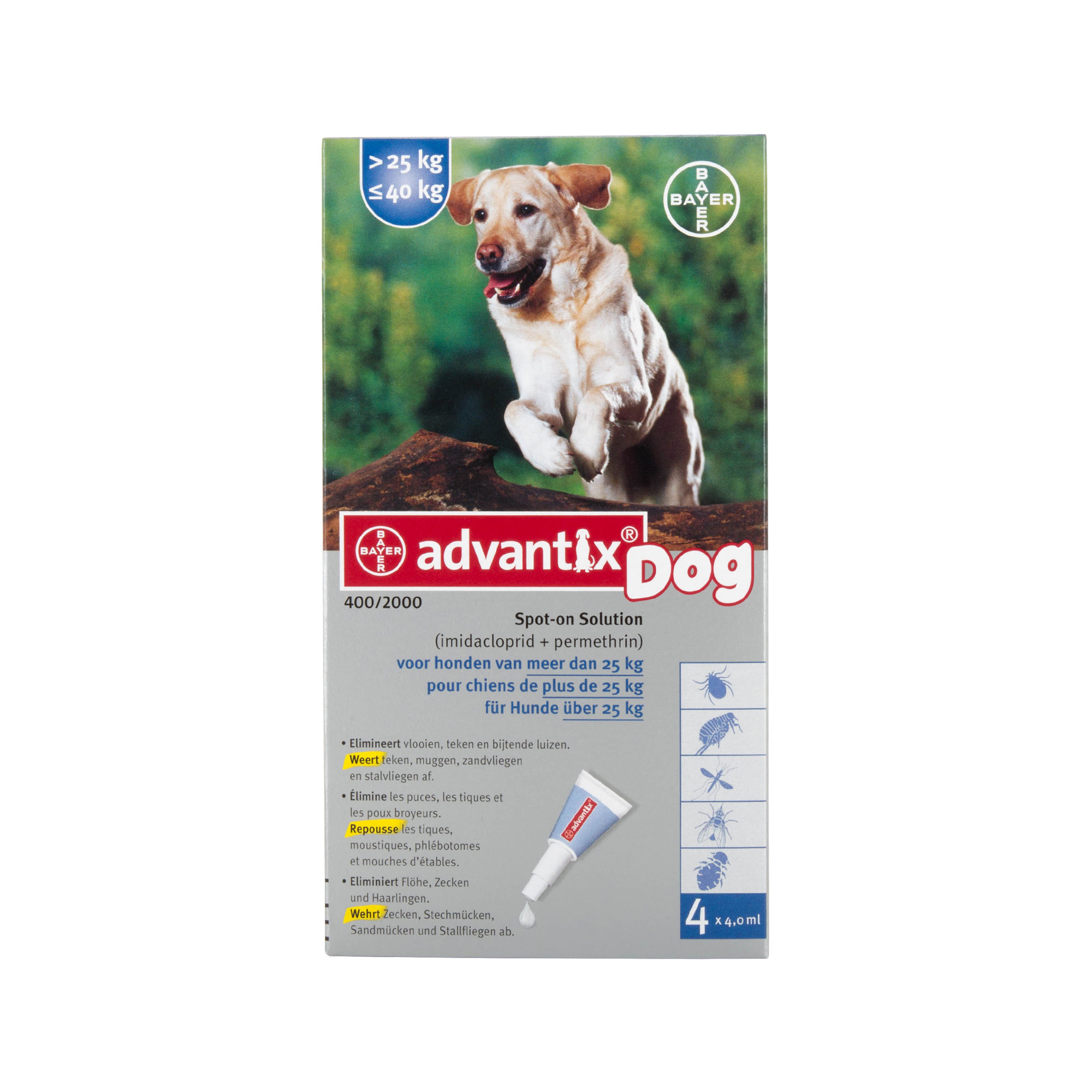Advantix 400/2000 - 25 - 40 kg - 4 Pipetten