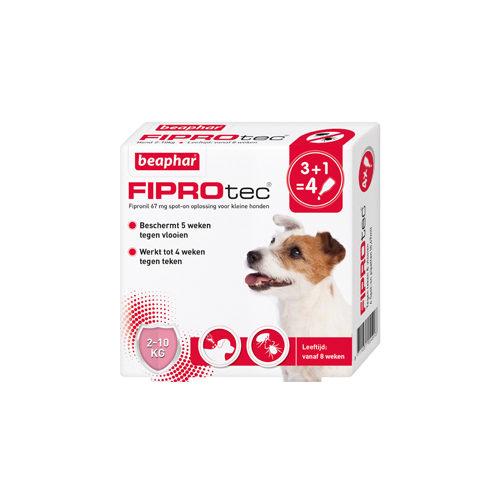 Beaphar FiproTec Spot-On Hund - 2 - 10 kg - 3 + 1 Pipetten