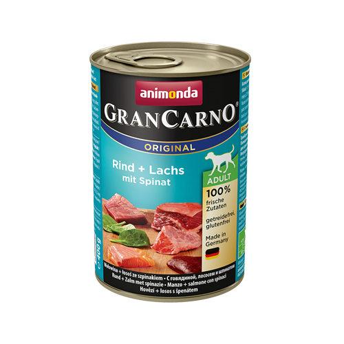 Animonda GranCarno Original Adult Hundefutter - Dosen - Rind, Lachs & Spinat