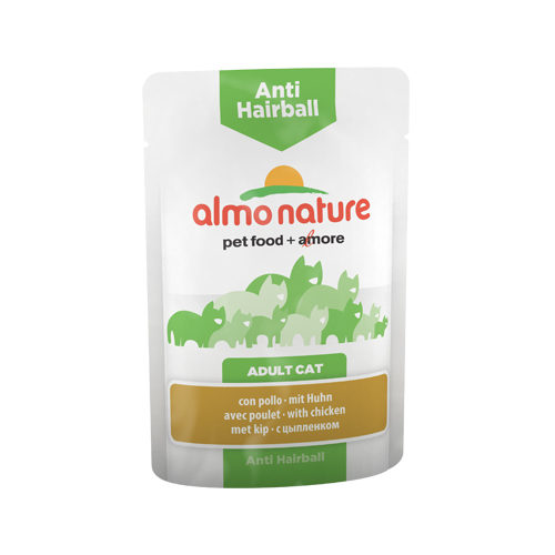 Almo Nature Anti Hairball Katzenfutter - Frischebeutel - Huhn