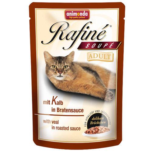 Animonda Rafiné Soupé Adult Katzenfutter - Frischebeutel - Kalb in Bratensauce