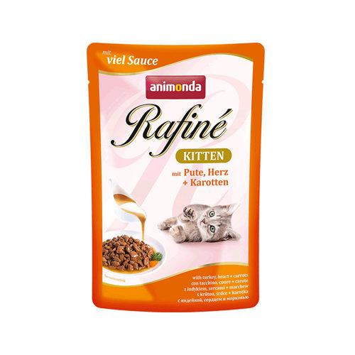 Animonda Rafiné Soupé Kittenfutter - Frischebeutel - Pute Herz & Garnelen