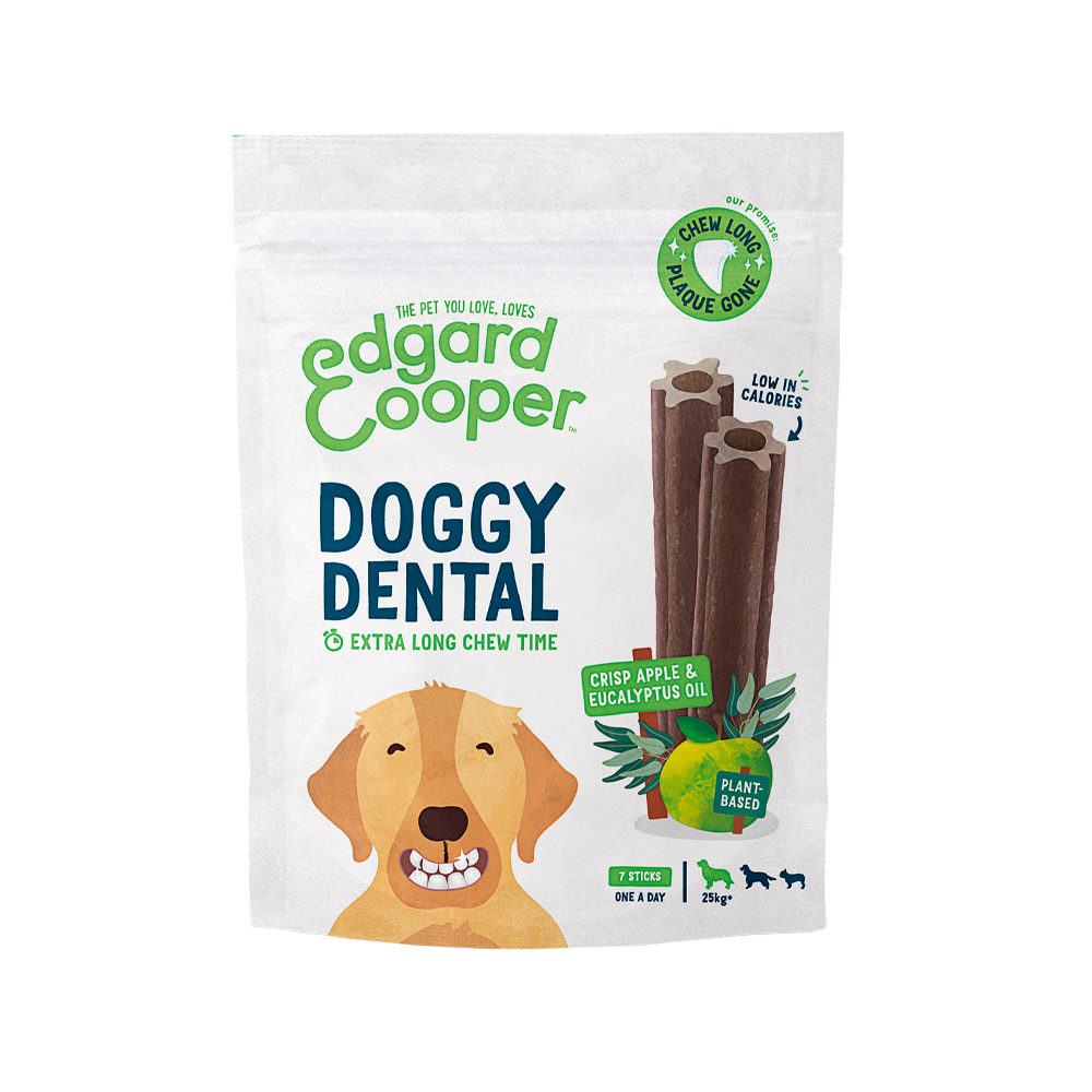 Edgard & Cooper Doggy Dental Large - Apfel & Eukalyptus