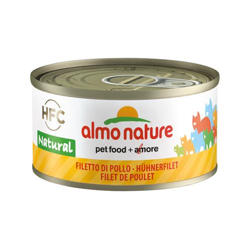 Almo Nature HFC 70 Natural Katzenfutter - Dosen - Hühnerfilet