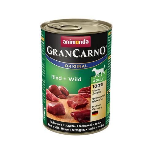 Animonda GranCarno Original Adult Hundefutter - Dosen - Rind & Wild