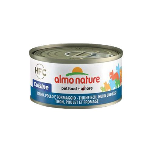 Almo Nature HFC 70 Cuisine Katzenfutter - Thunfisch, Huhn & Käse