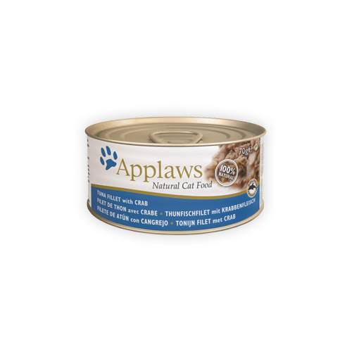 Applaws Katzenfutter - Dosen - Tuna Fillet & Crab