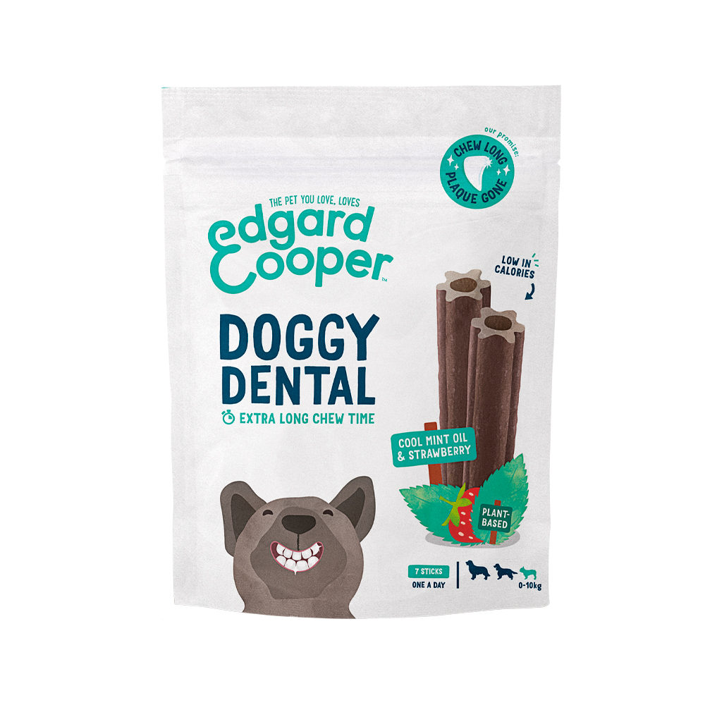 Edgard & Cooper Doggy Dental Small - Minze & Erdbeere