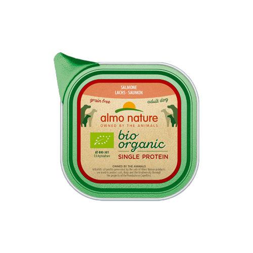 Almo Nature Bio Organic Single Protein Hundefutter - Schälchen - Lachs