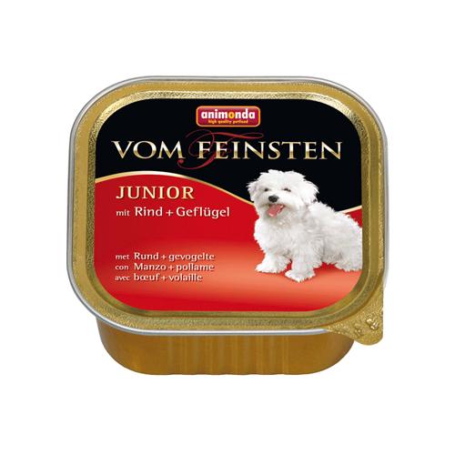 Animonda vom Feinsten Junior Hundefutter - Schälchen - Rind/Geflügel