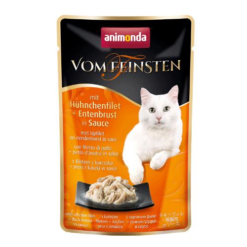 Animonda Vom Feinsten Katzenfutter - Frischebeutel - Hühnchenfilet & Entenbrust