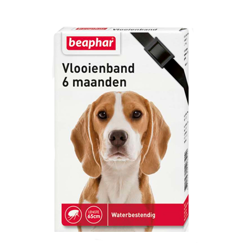 Beaphar Flohhalsband Hund 6 Monate - Schwarz